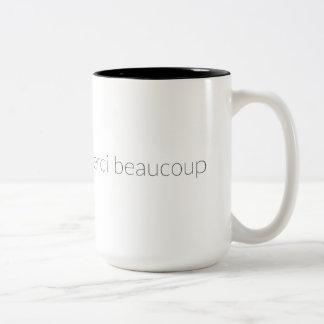 Merci Beaucoup Two-Tone Coffee Mug