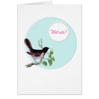 Merci Birdy Blue Card
