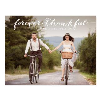Merci | blanc pour toujours reconnaissant de carte postale