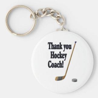 merci car d'hockey porte-clé rond
