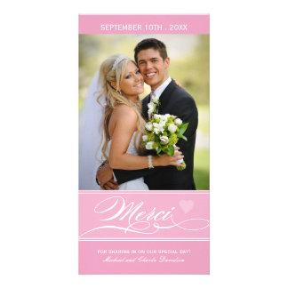 Merci - Carte Photo (4x8) Custom Photo Card