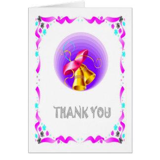 Merci - cloches de mariage carte de vœux