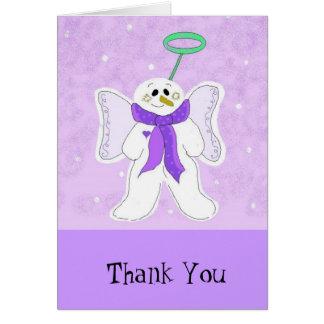 Merci d'ange de neige carte de correspondance