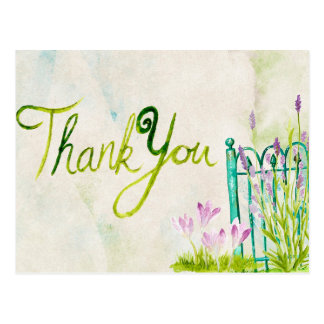Merci d'aquarelle de lavande carte postale