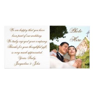 Merci de mariage de ~ de carte photo