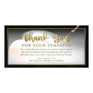 Merci d'or de golfeur pour votre carte de cartes de vœux avec photo
