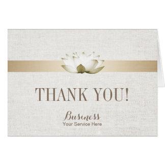 Merci élégant de SPA de salon de Lotus de thérapie Carte De Correspondance