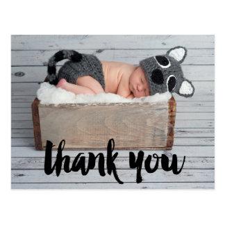Merci et carte postale de faire-part de naissance