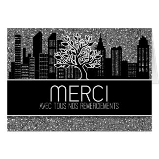 Merci French Business Thank You Blank Card