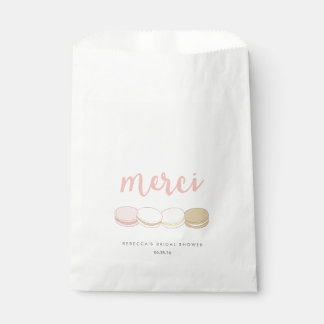 Merci French Macarons Bridal Shower Favour Bag
