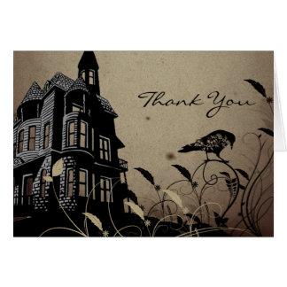 Merci gothique vintage de mariage de Chambre Carte De Correspondance