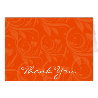 Merci graphique rose de mariage d'orange carte de correspondance
