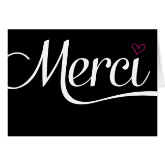 Merci - greeting card