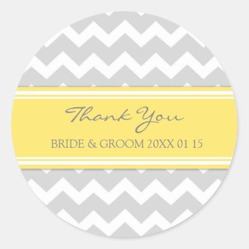 Merci jaune gris de Chevron épousant des Adhésifs Ronds