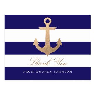 Merci nautique de marine carte postale