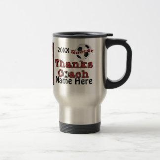 Merci personnalisé de cadeaux d'entraîneur du mug de voyage