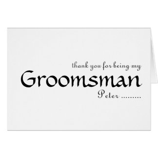 Merci pour être mon Groomsman Carte De Vœux