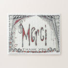 """Merci - Thank You"" Jigsaw 8x10 or 11x14 Jigsaw Puzzle"