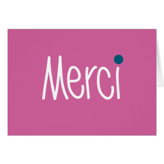 Merci Thank you Note Card