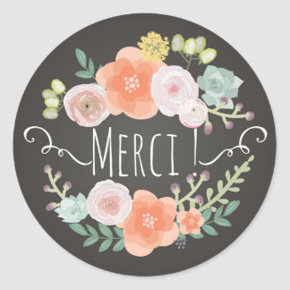 Merci! Thank You Sticker