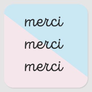 Merci Thank You Sticker