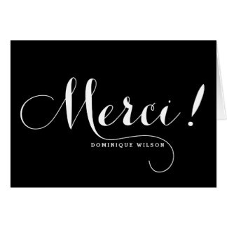 Merci | Whimsical Calligraphy Thank You Card