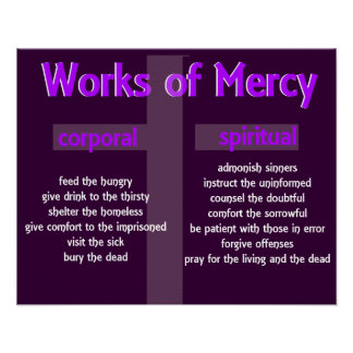Merciful Works Christian Poster