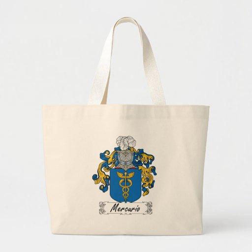 Mercurio Family Crest Tote Bags