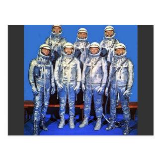 merCURY 7 astronauts Postcard