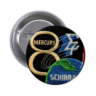 Mercury 8: Sigma 7 – Wally Schirra 2 Inch Round Button