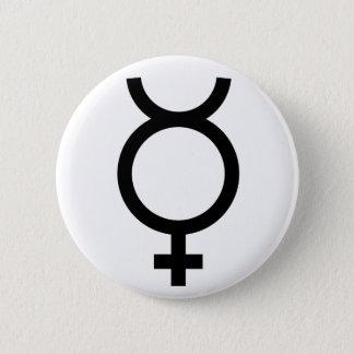 Mercury alchemical symbol 2 inch round button