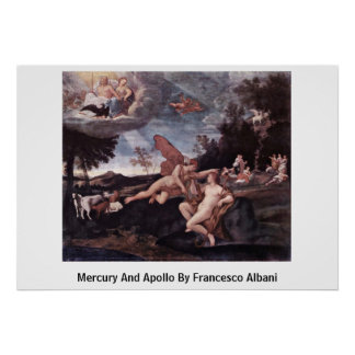 Mercury And Apollo By Francesco Albani Poster