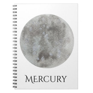 Mercury Planet Watercolor Notebook