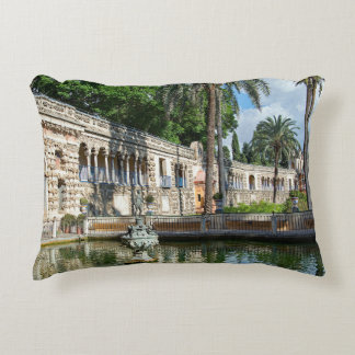 Mercury Pond and the Gallery of the Grotesque. Accent Pillow