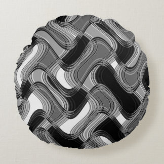 Mercury & Sable Round Throw Pillow