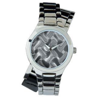 Mercury & Sable Women's Wraparound Silver Watch