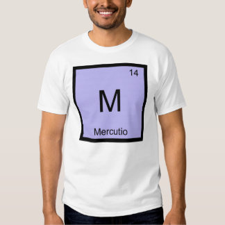 Mercutio Name Chemistry Element Periodic Table Tshirt