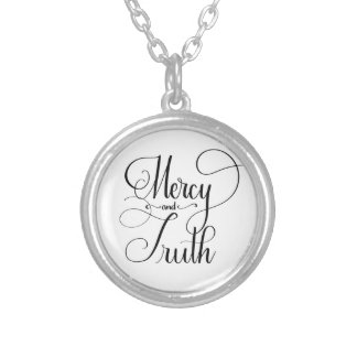 Mercy and Truth Hand Lettered Necklace (Pro. 3:3)