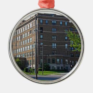 Mercy College Silver-Colored Round Ornament
