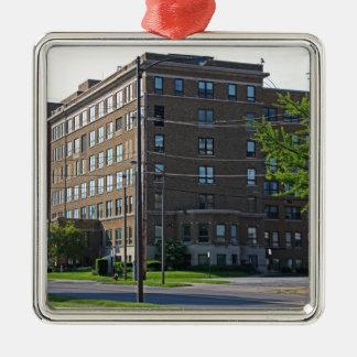 Mercy College Silver-Colored Square Ornament