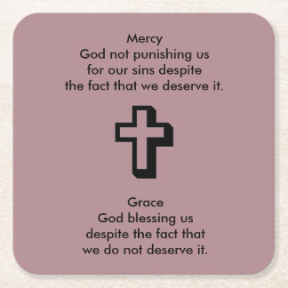 Mercy & Grace Coaster w/Shadow Cross