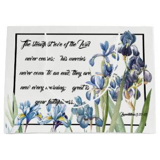 Mercy Love of God Blue Iris Flower Garden Gift Bag