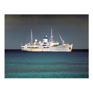 Mercy ship postcard