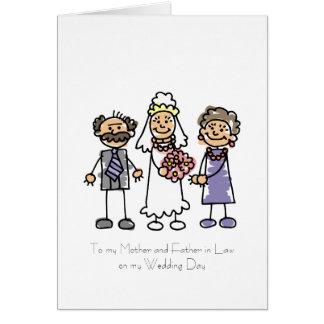 Mère et poème de beau-père carte de vœux