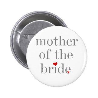 Mère grise des textes de jeune mariée macaron rond 5 cm