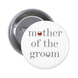 Mère grise des textes de marié macaron rond 5 cm