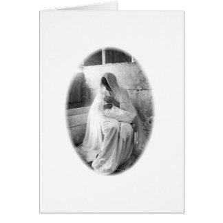 Mère Mary avec noir et blanc classique d enfant Cartes