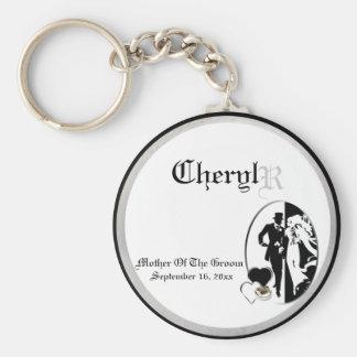 Mère personnalisable du porte - clé de souvenir de porte-clé rond