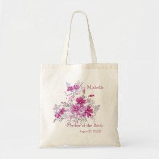 Mère rose florale de noce du sac de jeune mariée
