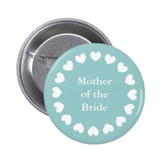 Mère turquoise du bouton de jeune mariée pour des  macaron rond 5 cm